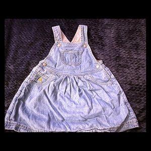 18-24 mos gap denim dress overalls